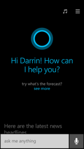 Cortana For Windows 8.1